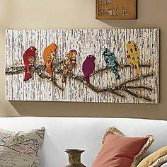 Camara Batik & Newsprint Wall Décor from Seventh Avenue ®