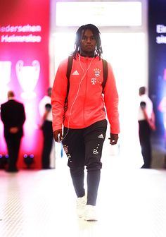 Renato Sanches of Bayern Munich arrives for the Bundesliga match between Bayern Muenchen and 1 FC Koeln at Allianz Arena on October 1 2016 in Munich...