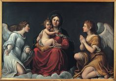 20 Francesco Albani Madonna Child  SLATE 1.46 Mo