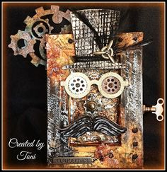 Honorable Mention Mixed Media Monthly Challenge June 2015 by Toni Studio Garage Band: You've Been Steam Punk'd
