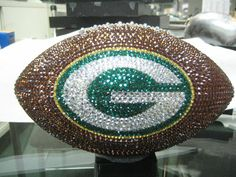 Green Bay Packers Collectible Football with by bellinibyformart Green Bay Football, Green Bay Packers Fans, Football Is Life, Nfl Green Bay, Football Baby, Football Memes, Football Season, Football Team, Packers Baby