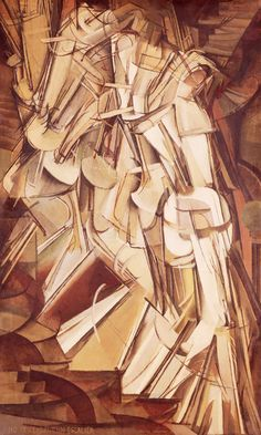 Marcel Duchamp's Nude Descending a Staircase No 2 (1912), featured in the Armory Show, 1913 #modernism