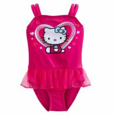 22ba591b26 Hello Kitty One-Piece Swimsuit - Toddler  9.60 Sanrio Hello Kitty