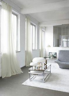 Cortinas y estores en el estilo n rdico for Cortinas blancas salon