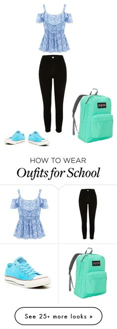 """""""School"""" by olivia6789 on Polyvore featuring JanSport and Converse"""