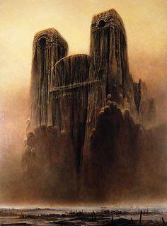 Zdzislaw Beksinski Gallery: Zdzislaw Beksinski paintings from 1985