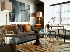 Modern masculine-Living-Room decor
