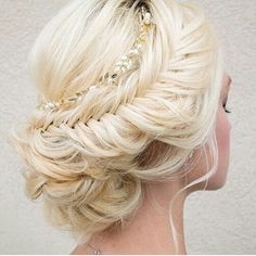 Such a pretty updo hairstyle