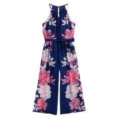 1132fe114116 Girls 7-16 My Michelle Floral Jumpsuit