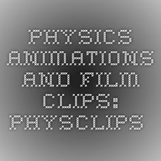 Physics animations and film clips: Physclips.