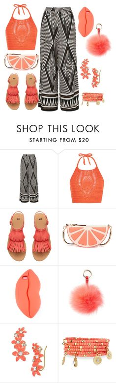 """""""Untitled #132"""" by amanihalaly on Polyvore featuring Topshop, New Look, H&M, Kate Spade, STELLA McCARTNEY, RAJ and Emily & Ashley"""