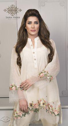 Saira Habib Eid Lawn Festive Season Dresses 2016 In case you are something similar to Pakistani Dresses Casual, Pakistani Dress Design, Indian Dresses, Indian Outfits, Pakistani Bridal, Designer Kurtis, Designer Dresses, Stylish Dresses, Casual Dresses