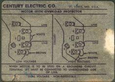 Century AC Motor Wiring Diagram Electrical Washing