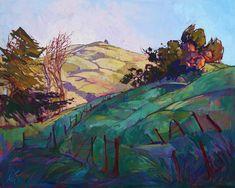 California Hills Impressionism Landscape Original Oil Painting Erin Hanson 60x48