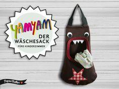 YamYam - Der Wäschesack fürs Kinderzimmer von PaperMakes auf DaWanda.com