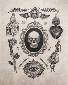 Black Ink Tattoos, Body Art Tattoos, Small Tattoos, Tattoo Small, Ship Tattoos, Gun Tattoos, Word Tattoos, Tattoo Flash Sheet, Tattoo Flash Art