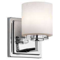 Kichler Sconce fixture Model O Hara - Wall Sconce Halogen in Chrome Finish. Transitional from the Nickel & Steel finishes group in Chrome. 1 Light Sconce category from the O Hara family. Bathroom Sconces, Bathroom Vanity Lighting, Wall Sconce Lighting, Home Lighting, Bathroom Ideas, Light Bathroom, Basement Bathroom, Modern Bathroom, Lighting Ideas