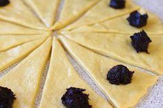 Cornuri cu magiun | Laura Laurențiu Eggs Benedict Recipe, Tasty, Yummy Food, Dessert Recipes, Desserts, Pineapple, Food And Drink, Cooking Recipes, Baking
