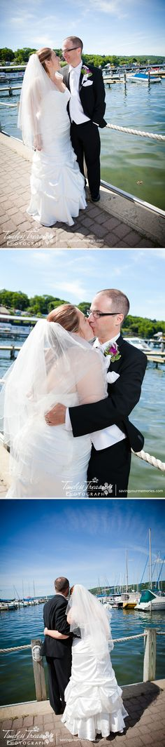 Wedding photography with a lake view. Images taken in Watkins Glen New York. All Images Copyright © 2014 Timeless Treasures Photography | www.savingyourmemories.com