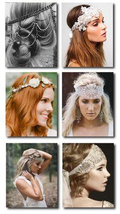 Boho Headpieces.      I love them ALL