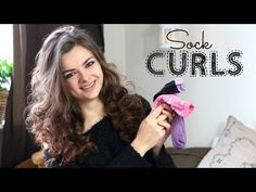 How to curl your hair with a sock! No heat - YouTube