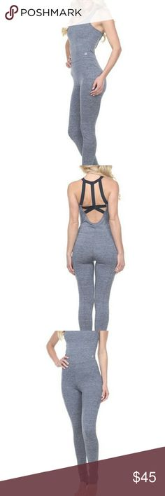 Active Heather gray workout Bodysuit Awesome NEW sexy Active workout Bodysuit. Body hugging fit  Stretch fabric  Moisture wicking  Anti microbial  Machine wash Perfect for the gym, yoga, running , weight lifting.  Other colors and sizes available. Pants Jumpsuits & Rompers