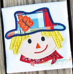 Scarecrow Boy Applique - 4 Sizes! | What's New | Machine Embroidery Designs | SWAKembroidery.com Creative Appliques