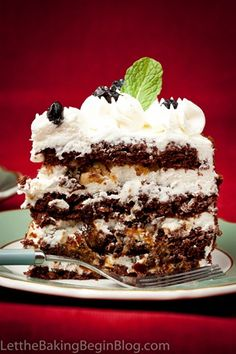 Chocolate Cake w/ Walnuts & Prunes (Шоколадный торт с Черносливом)  #Russian_recipes #Russian_food #Russian_desserts