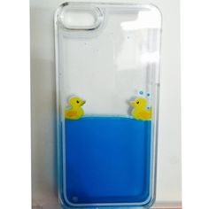 Creative Design Flowing Liquid Case Cute Duck Transparent Hard Plastic Clear Protective Shell for iphone 6 4.7 Inches