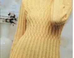 Hand Knit Women dresssweater coat aran jacket by BANDofTAILORS