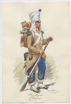 Cacciatore del 1 rgt. di fanteria leggera