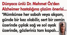Dr. Mehmet Öz'den Alzheimer'a yakalanmamak için öneri!
