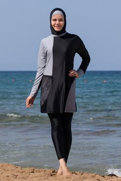 9189f05ece AdabKini Duru, Women's Swimsuit Full Cover Hijab Burkini Islamic, Hindu,  Arab, Jewish Swimwear