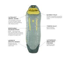 Riff™ Women's Down Sleeping Bag | NEMO Equipment Down Sleeping Bag, People Sleeping, Ultralight Backpacking, Adventure Gear, Popular Bags, I Can Tell, Body Heat, Lining Fabric, Bag Storage