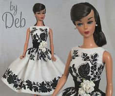 Dinner for Two - Vintage Barbie Doll Dress Reproduction Repro Barbie Clothes