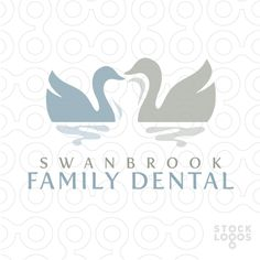 swan family dental logo by NancyCarterDesign  I love this. I love how the swans make a tooth in the middle, very clever and thought out.