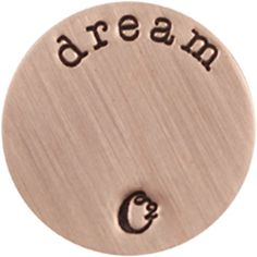 LARGE ROSE GOLD DREAM / ROSEGOLD PLATES | ORIGAMI OWL CUSTOM JEWELRY | STAMPED PLATE