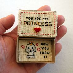 Card Matchbox Card for Girl Card for Girlfriend Small Tiny