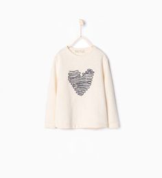 ZARA - KIDS - Embroidered appliqué sweatshirt