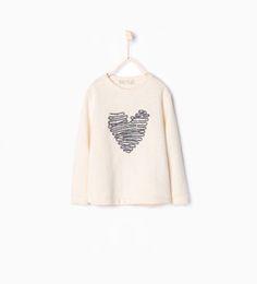 Image 1 of Embroidered appliqué sweatshirt from Zara
