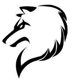 Tribal wolf by JustATry2552.deviantart.com on @deviantART