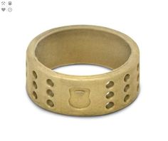 Men's Gold Perforated Silicone Ring