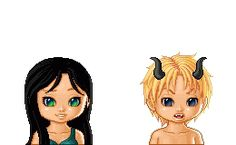 """Carrow Graie and Malkom Slaine from Kresley Cole's Demon from the Dark. The image was created wit """"lunaii dollmaker"""". IAD: Carrow and Malkom Immortals After Dark, Kresley Cole, Doll Maker, Rage, Disney Characters, Fictional Characters, Witch, Fan Art, King"""