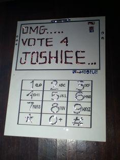 Vote for me poster idea