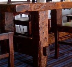 Rustic Barnwood Dining Table by Greater Yellowstone Furniture and Designs