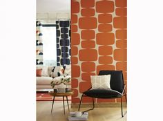 Papier peint orange vintage
