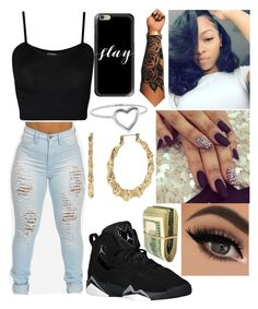 """""""Untitled #170"""" by kya-booda ❤ liked on Polyvore featuring WearAll, Casetify, Jennifer Meyer Jewelry and Betsey Johnson"""