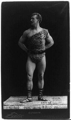 Strong man, 1895. Prints and Photographs Division, Library of Congress.