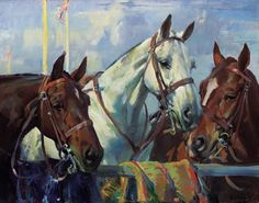 HAROLD SEPTIMUS POWER (1878-1951) POLO PONIES