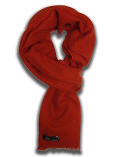 100% Cashmere Pashmina Sjaal Oranje-Rood